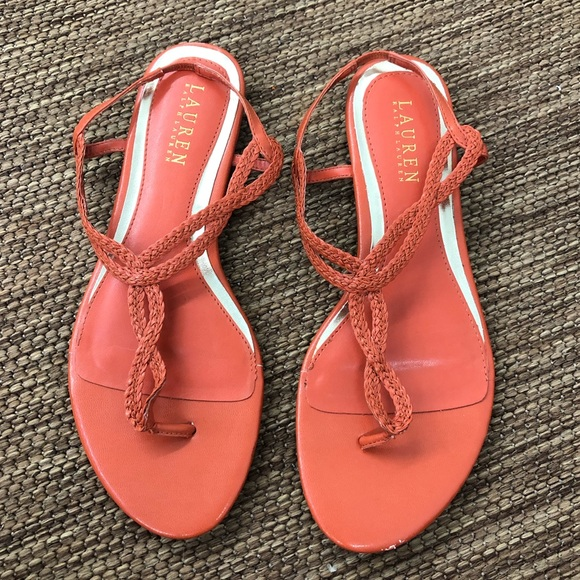 Lauren Ralph Lauren Shoes - Lauren Ralph Lauren Rope Sandals Orange Size 8